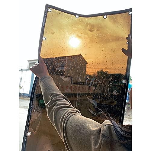YJFENG Impermeable Lona Alquitranada, Lona Al Aire Libre Cortina De Sombra Paneles, 95% De Reflectividad Impermeable A Prueba De Viento Balcón Cubierta De Hoja con Ojales