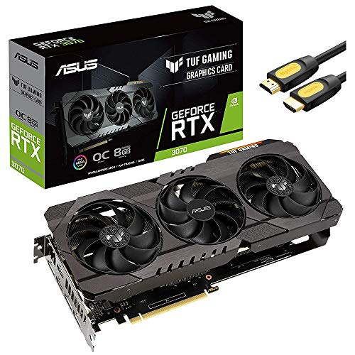 ASUS TUF Gaming NVIDIA GeForce RTX 3070 OC Edition Graphics Card PCIe 4.0, 8GB GDDR6, HDMI 2.1 ,...
