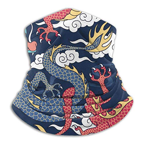 WlQshop Sky Cloud Dragon Neck Warmer Gaiter Fleece Ski Face Cover Cover for Winter