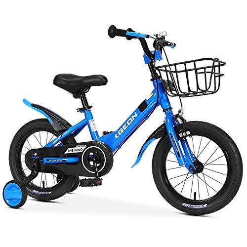 EDECO Bicicleta para niñas Bicicleta para niños 12' 14' 16' 18'' Niños Bicicleta para niños con Entrenamiento Wheels,For Niños de 2 a 12 años,Azul,14Inch