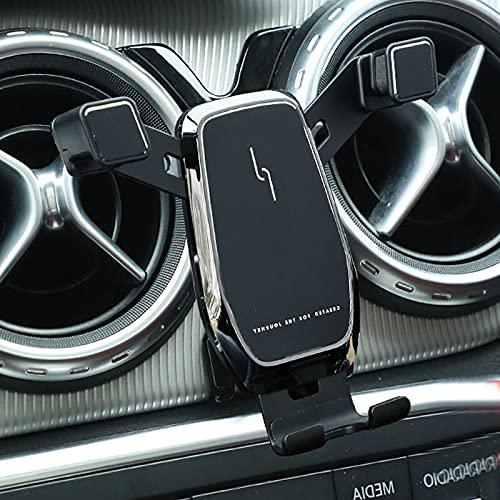 Porta cellulare da auto adatto per mercedes classe a w176 cla integratore gla accessori w246 a180 a200 a220 cla200 gla x156 gla35 b200 porta cellulare(nero)