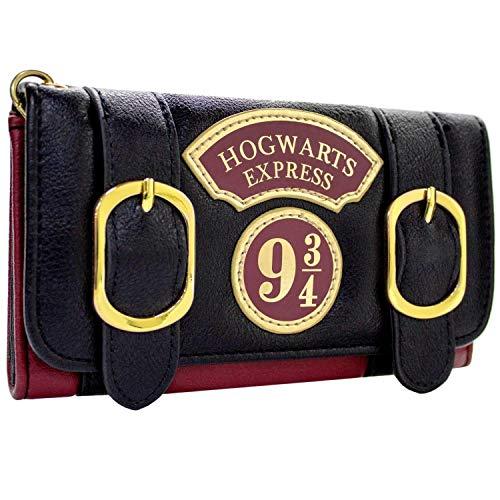 Harry Potter Hogwarts Express Doppelschnalle Schwarz Portemonnaie Geldbörse