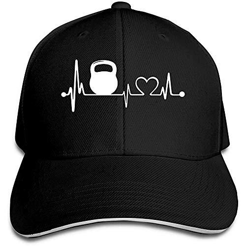 Dale Hill Gorra de béisbol Unisex Kettlebell Heartbeat Cotton Dad Hat Ajustable...