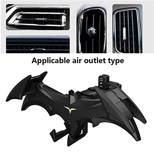 Liamostee Bats Wings Car Phone Holder Car Bats Air Vent Mobile Phone Holder Mount Stand Support Supplies