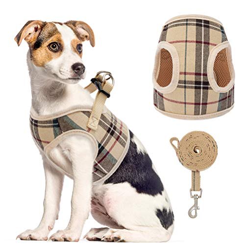 PUPTECK Soft Mesh Small Dog Harness
