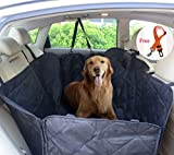 FLR Pet Seat Cover for Large Dogs Breeds Waterproof Washable Nonslip Scratch Proof Rear Back Car Seat Covers Pets Seat Protectors Mat Hammock for Car Trucks SUVs Vans & Vehicles-Universal Fit