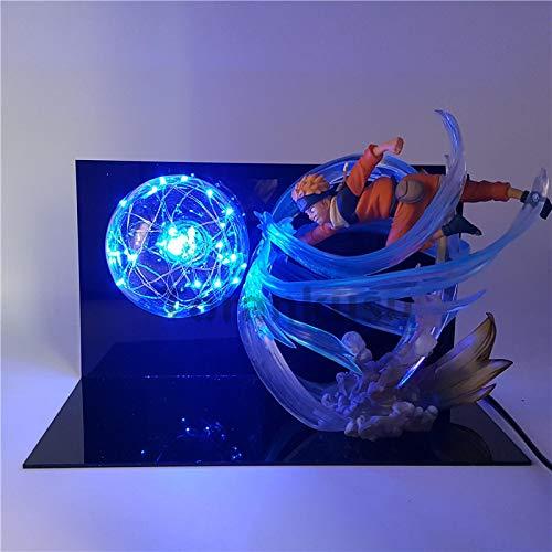 zzdgfc Naruto Rasengan LED Light Action Figure Toy Anime Naruto Shippuden Figurine Sasuke Uzumaki Naruto Toys Gift