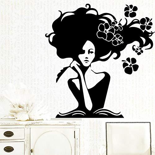 Hübsche Frau Küche Wandaufkleber Tapete für Babyzimmer Art Decal Weiß L 43cm X 44cm