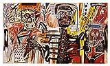 JH Lacrocon Pinturas a Mano Filisteos 1982 de Jean-Michel Basquiat - 150X80 cm Reproducción Lienzo Graffiti Poster Enrollado