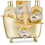 Spa Gift Basket with Sensual Rose & Jasmine Fragrance - Best Christmas, Anniversary, Birthday Gift...