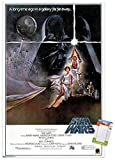 Trends International Star Wars: A New Hope-Original One Sheet Collector's Edition Wall Poster, 24' x 36', Poster & Mount Bundle