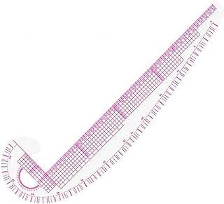 Práctica 3 en 1 herramienta de costura de la regla del arte plástico Curva métrica Medida