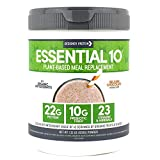 Designer Protein Essential 10 100% Plant-Based Meal Replacement, Belgian Chocolate, 1.32 Pound, Made in USA