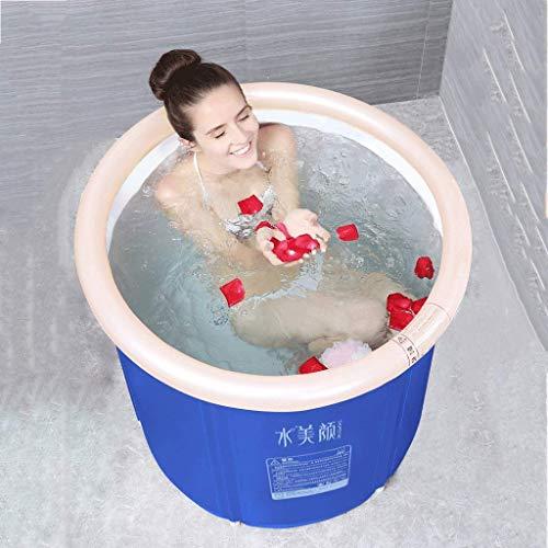 Qiutianchen Tina Inflable de Cuerpo Completo, bañera for Adultos de plástico de plástico de Doble Drenaje de Doble Drenaje Baño SPA remojo (Size : Small)
