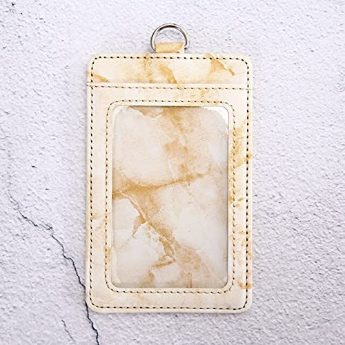 BlueCandle - Credit Card Holder Wallet For Women Men Short Purse Business ID Card Cover Purse Bank Multi Slot Card Bags Case Marble Style - Khaki No String-73337