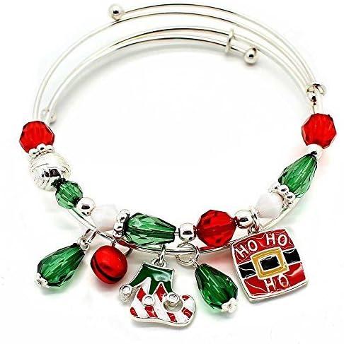 KIS-Jewelry Christmas Santas Belt and Elf Import Shoe Fashionable Bangle Bracelet
