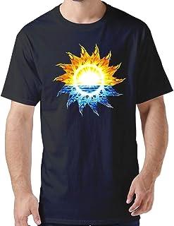 ZYXcustom Custom Men's T Shirts Tribal Sun Personalized T-Shirt for Men