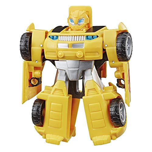 Playskool Heroes Transformers Rescue Bots Academy Bumblebee Converting Toy Robot, 4.5-Inch Action Figure, Toys for Kids Ages 3 and Up