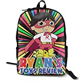 Ryans World Backpack, Ryan Toy Reviews School Backpacks 3D Printed Bookbags Daypack Shoulder Lightweight Bag Laptop, Fashion Large Capacity Casual Travel Bag for Kids/Students/Childrens