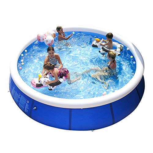 paddling pools Inflatable Swimming Pools for Kids and Adults Above Ground, Blow Up Family Top Ring Pool Portable Easy Set Pools Games for Outdoor Backyard Garden (S 8FT X 25IN)