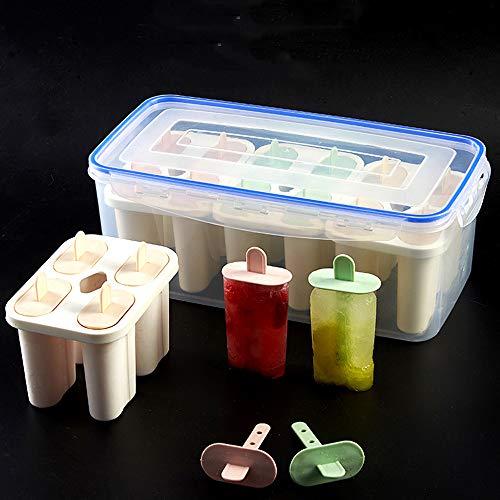 DIY ijs mallen Silicone ijslolly mallen Zelfs het maken van containers, BPA-vrij, herbruikbare Stieleisformer (12 stuks)