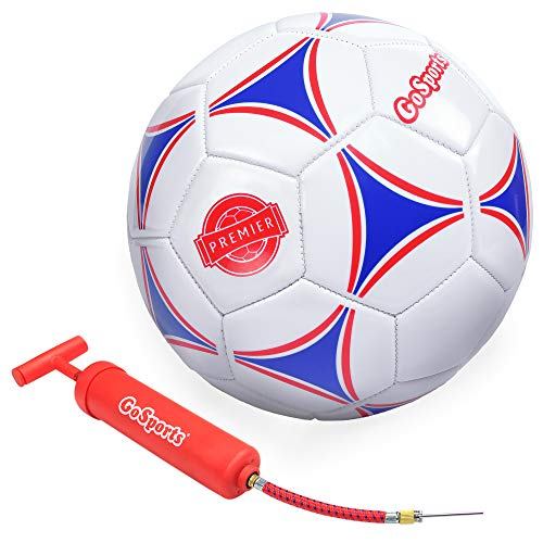 GoSports Premier Soccer Ball with Premium Pump, Size 5