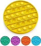 LA PUERTA MÁGICA Pop it Juguete antiestrés Fidget Toy Divertido Juguetes antiestrés para Dedos, sensorial y Divertido Push Bubble explota Las Burbujas (Amarillo)