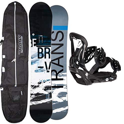 Unbekannt Herren Snowboard Trans Style Skate 152 cm 2019 + FTWO Sonic BINDUNG GR. L + Bag