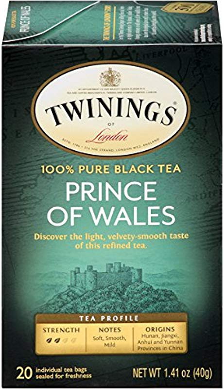Twinings Of London Prince Of Wales Tea Bags 20 Count Pack Of 6
