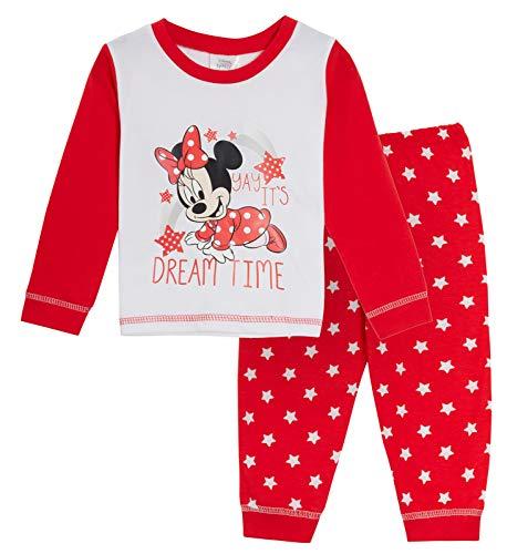 Disney Baby Mädchen Schlafanzug Minnie Maus voller Länge Pyjama Kleinkind Pyjama Fußlose Nachtwäsche Set Gr. 6-9 Monate, Traumzeit