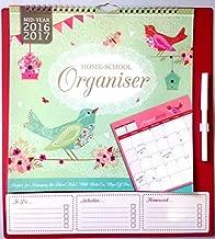 20162017académico calendario organizador de mitad home-school organizador con bolígrafo (3933) (diseño de pájaros)