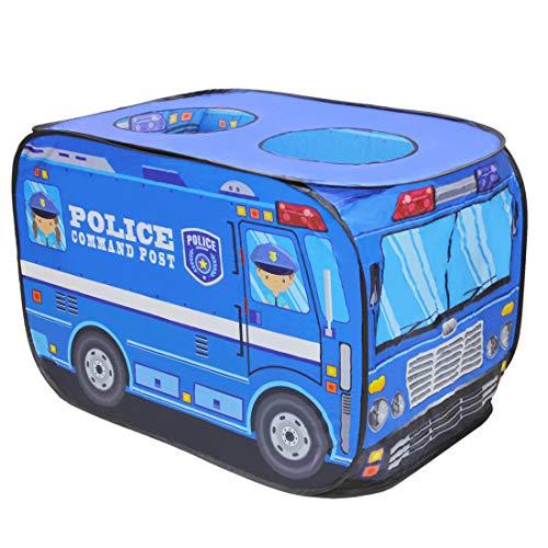 deAO Police Truck Faltbares Spielzelt - Kinderspielhaus Indoor Outdoor Spielspielzeug Tolles Geschenk für Kinder