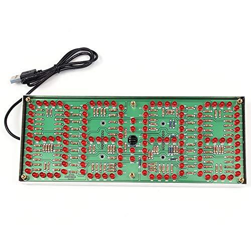 Präzision Rote LED-Anzeige Taktgeber DIY Module Kit 1-Zoll-ECL-132 DIY Clock Kit Remote Control Uhr Anzug LED Zeit Screen Display Kit Stabiler und zuverlässiger Leistung