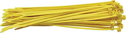 Cable Ties 2.5mm x 100mm Nylon Tie-Wrap Yellow !! Pack of 100 units !!