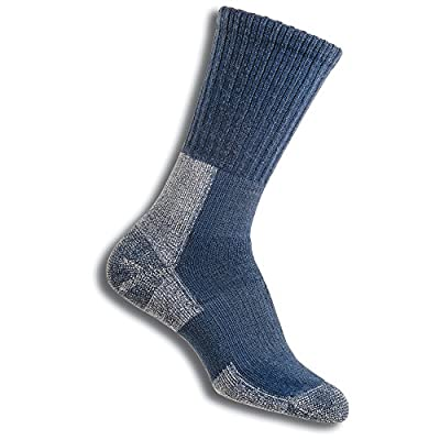 Thorlos Women's TRHXW Max Cushion Trail Hiking Crew Socks, Dust Blue, Medium
