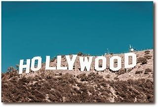 Hollywood Schriftzug Los Angeles USA Leinwand Bild Wandbild Kunstdruck L0304