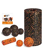 Blackroll Orange STANDARD Komplett-Set - mit Faszienrolle Standard & Mini Faszienrolle, Twinball 8 & 12 cm, Faszienball 8 & 12 cm