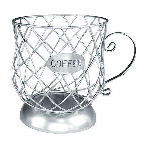 Wollaston Multifunktionales Aufbewahrungsregal Becher-fassenförmiges Anti-Rost-Kaffeepadhalter-Aufbewahrungsregal,Multifunctional Storage Rack Mug Cup-Shaped Anti-Rust Coffee Pod Holder Storage Rack