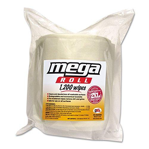 Gym+Wipes+Mega+Roll+Refill%2c+8+x+8%2c+White%2c+1200%2fRoll%2c+2+Rolls%2fCarton