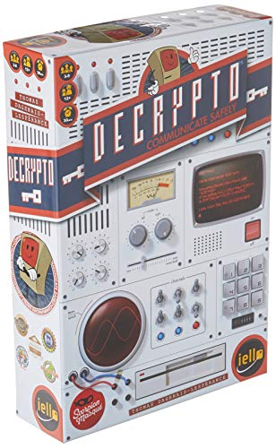IELLO Decrypto Board Game, 30 Min Play Time, Age 12 & Up, 3-8 Players, Transmit Secret Codes & Don't Allow The Opposing Team to Intercept, Creative Word Party Game