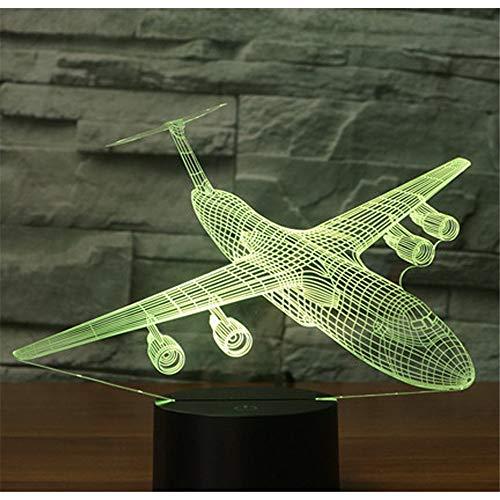 Lampe de nuit 3D Light Illusion, bombardier de missile Shock Hang venir avec 7 couleurs Light Plane Ai, lampeoptique