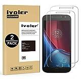 ivoler [Pack de 2] Verre Trempé pour Lenovo Motorola Moto G4 Plus [Garantie à Vie], Film...
