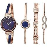 Anne Klein Women's Swarovski Crystal Accented Watch and Bracelet Set, AK/3578