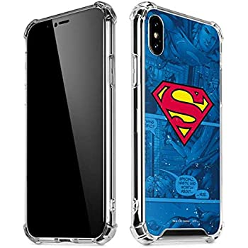 Amazon Com Skinit Clear Phone Case For Iphone X Xs Officially Licensed Warner Bros Superman Logo Design