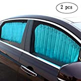ZATOOTO Car Side Window Sun Shade - 1 PCS Beige Magnetic Privacy Sunshades Window Curtain Keeps Cooler Screen for Baby Sleeping (Beige-1 pcs)