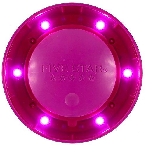 "Five Star Locker Accessories, Locker Light, Push Button Light, Colored LED, Magnetic, 4"" x 4"", Purple (73569)"