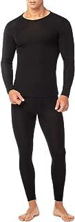 Men's 100% Merino Wool Thermal Underwear Long John Set Lightweight Base Layer Top and Bottom M31