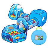 CUTE STONE Ball Pit Tunnels and Play Tent for Toddlers, Baby Indoor Playground for Kids, Boys and Girls (Balls Not Included)