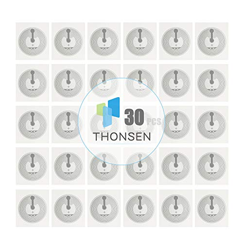 THONSEN 30pcs NTAG215 NFC Stickers Round 25mm(1 inch) Blank White NTAG 215 Tags Work Perfectly with TagMo Amiibo and All NFC-Enabled Cell Phones & Devices
