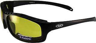 Global Vision Wildfire-2 نظارات شمسية مبطنة لركوب الدراجات النارية بإطار أسود غير لامع